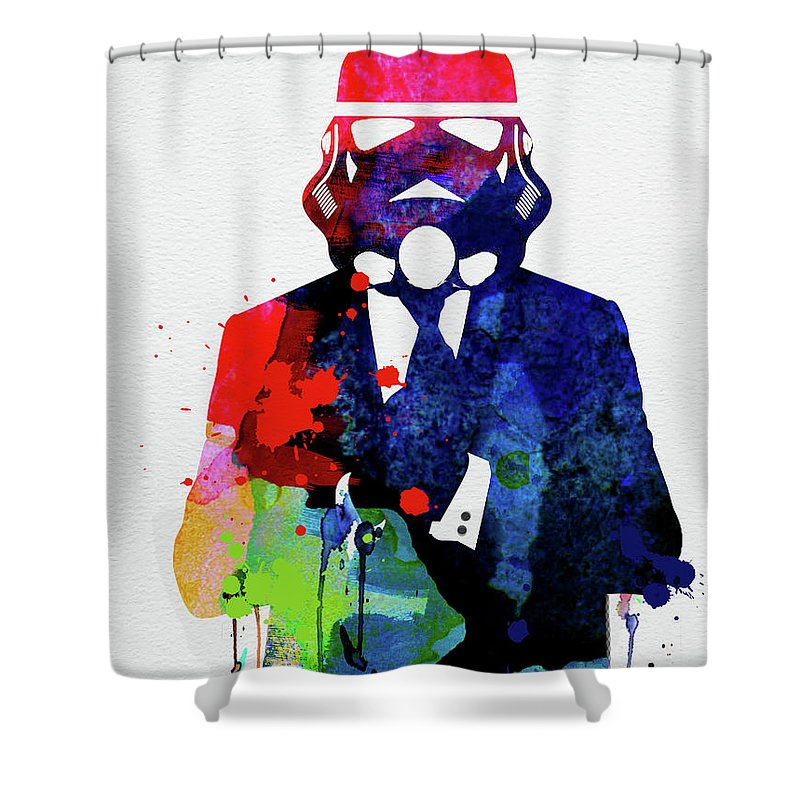 Movie Poster Mixed Media Shower Curtains