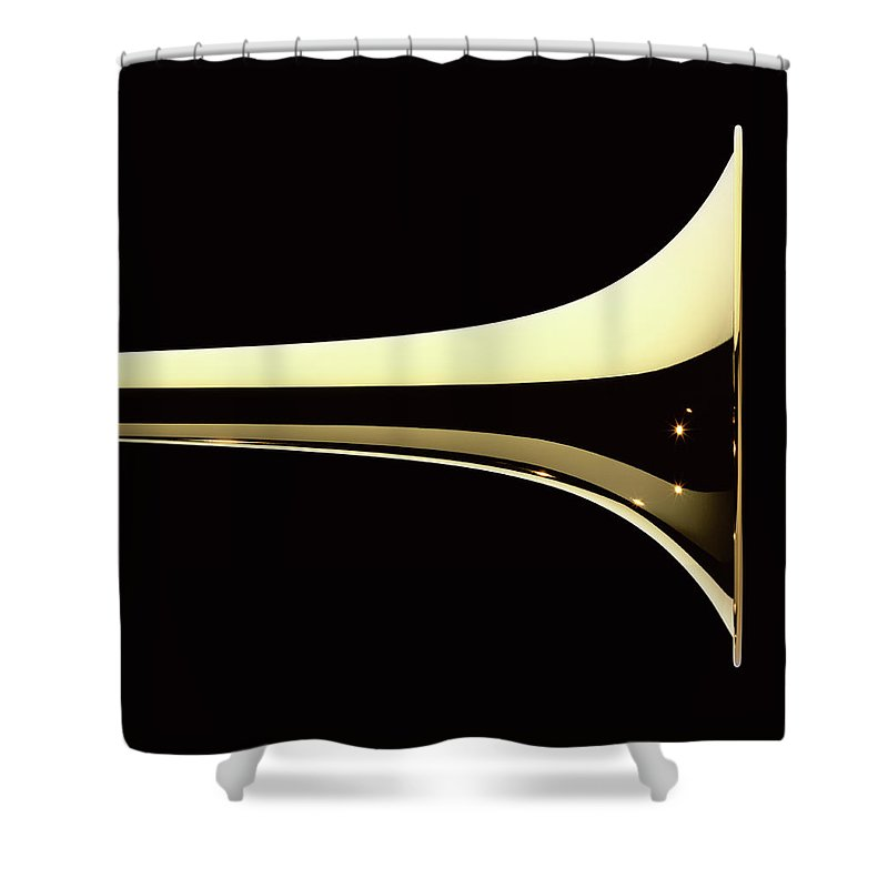 Curve Shower Curtain featuring the photograph Trumpet by Plainview