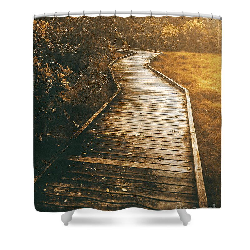 Trail Shower Curtain featuring the photograph Twisting Trails by Jorgo Photography - Wall Art Gallery