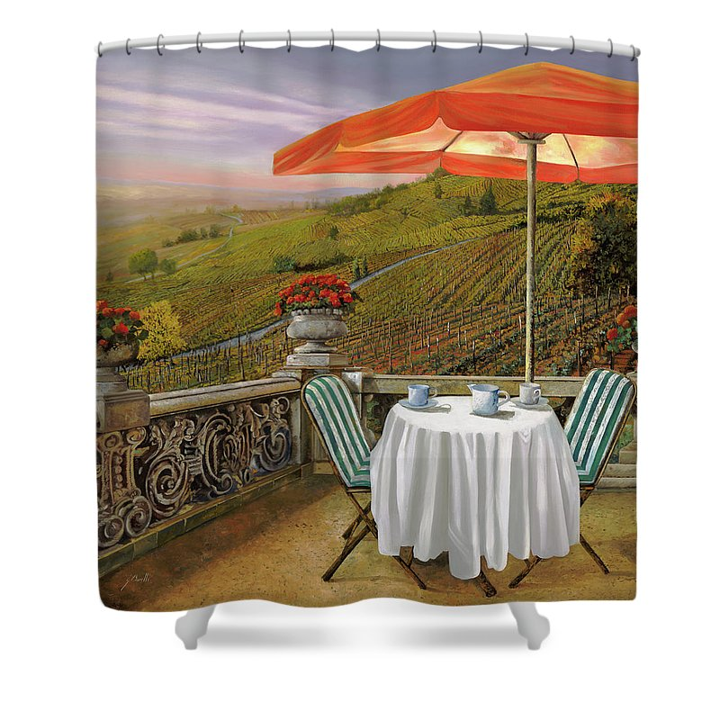 Caffe Paintings Shower Curtains