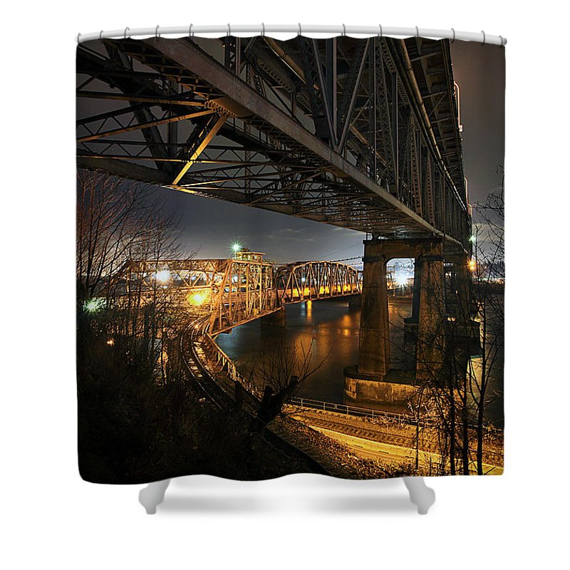 Built Structure Shower Curtain featuring the photograph Underbelly by Kevin Van Der Leek Photography