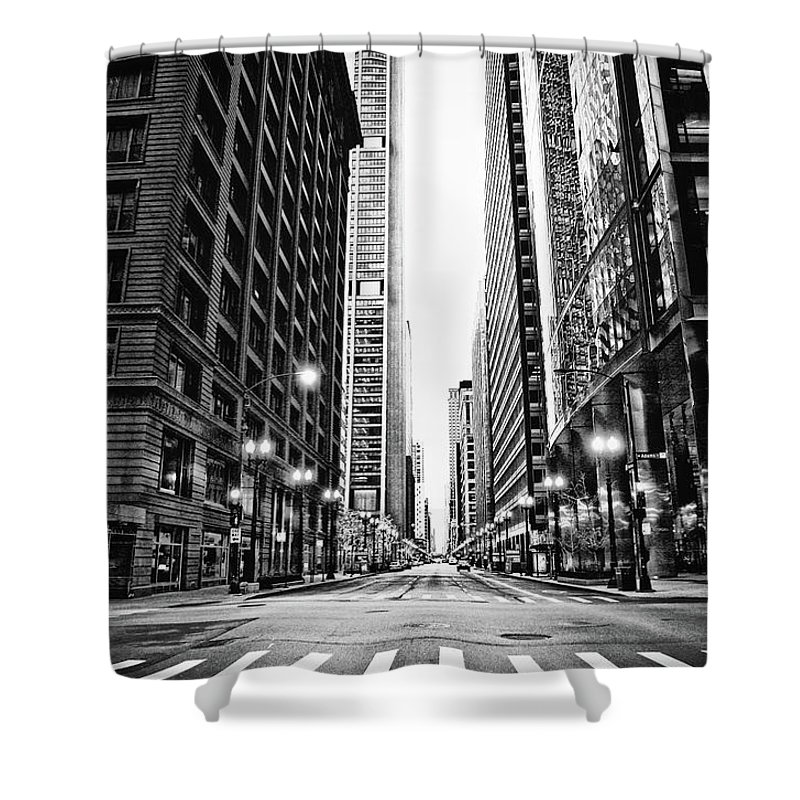 Crosswalk Shower Curtain featuring the photograph Urban Chicago City Intersection Of by Nicole Kucera
