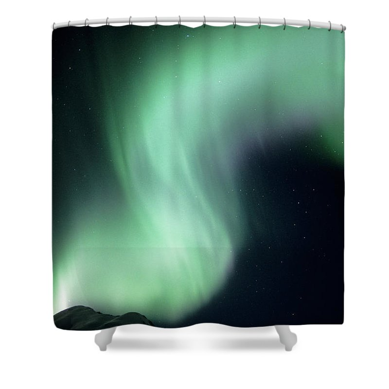 Spooky Shower Curtain featuring the photograph Usa, Alaska, Talkeetna Mountains by Kevin Schafer