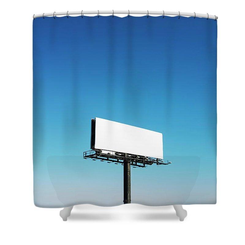 North Carolina Shower Curtain featuring the photograph Usa, North Carolina, Billboard Under by Tetra Images
