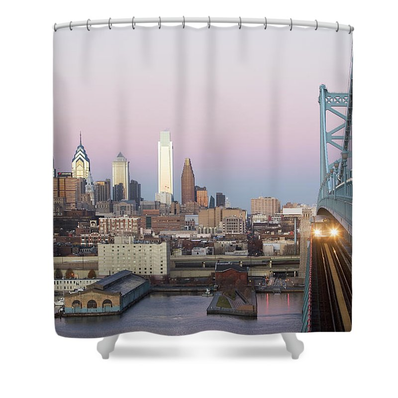 Downtown District Shower Curtain featuring the photograph Usa, Pennsylvania, Philadelphia, View by Fotog