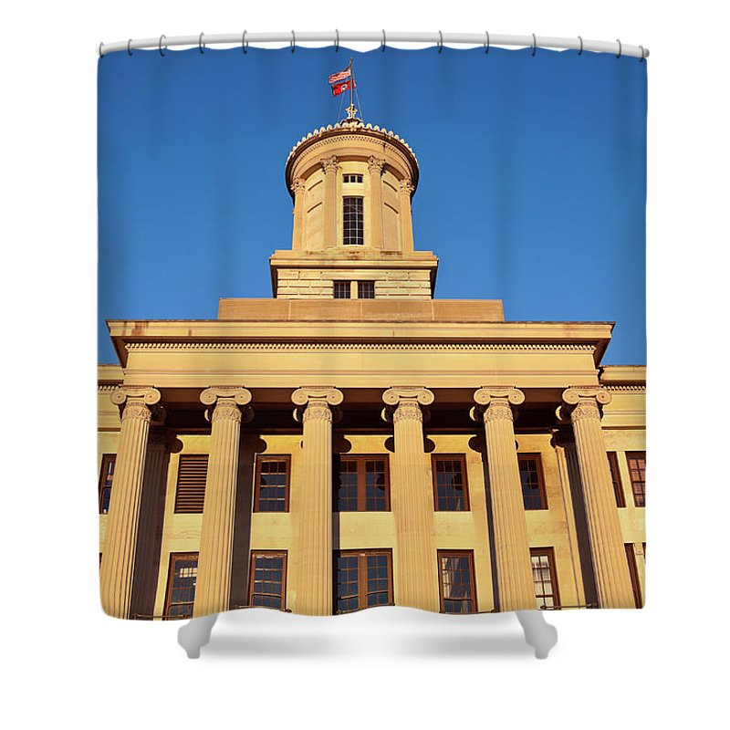 Clear Sky Shower Curtain featuring the photograph Usa, Tennessee, Nashville, State by Henryk Sadura
