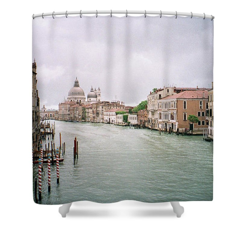 Europe Shower Curtain featuring the photograph Venice Grand Canal by Dick Goodman
