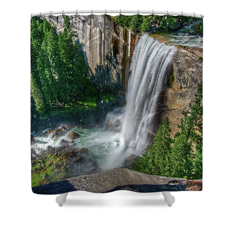 Scenics Shower Curtain featuring the photograph Vernal Falls by Aaron Meyers