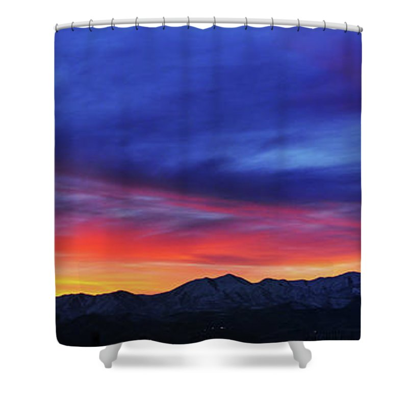 Scenics Shower Curtain featuring the photograph View Of City by Utah-based Photographer Ryan Houston