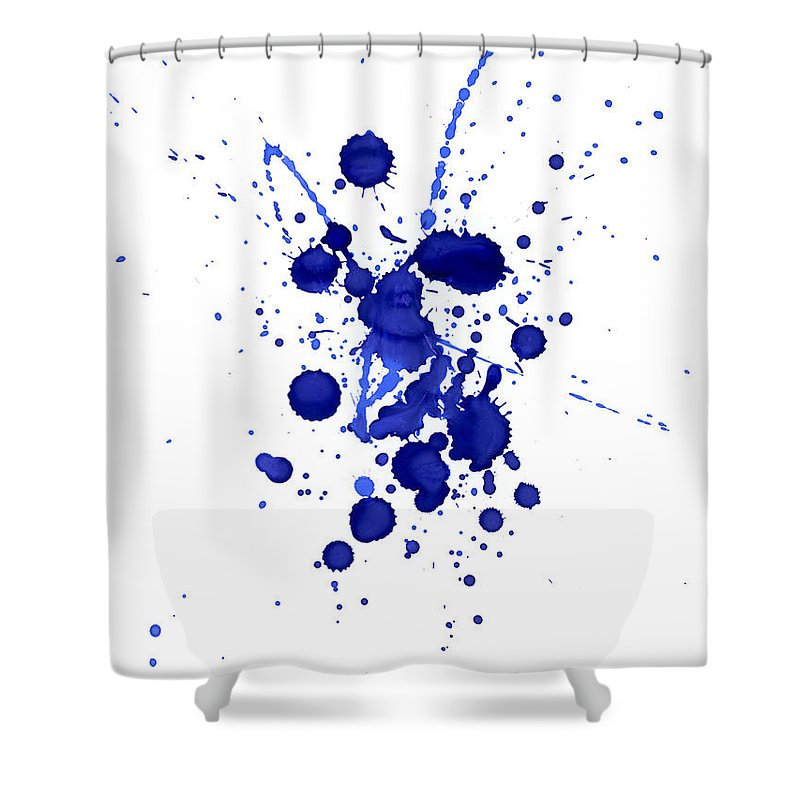 Watercolor Painting Shower Curtain featuring the photograph Violet Splashes by Alenchi