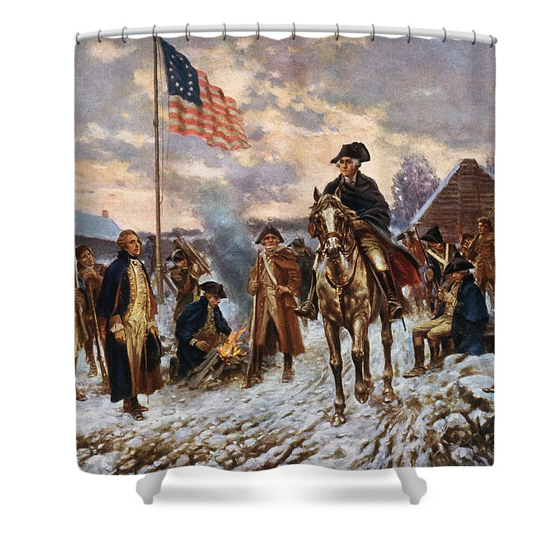 Bon Washington At Valley Forge Shower Curtain