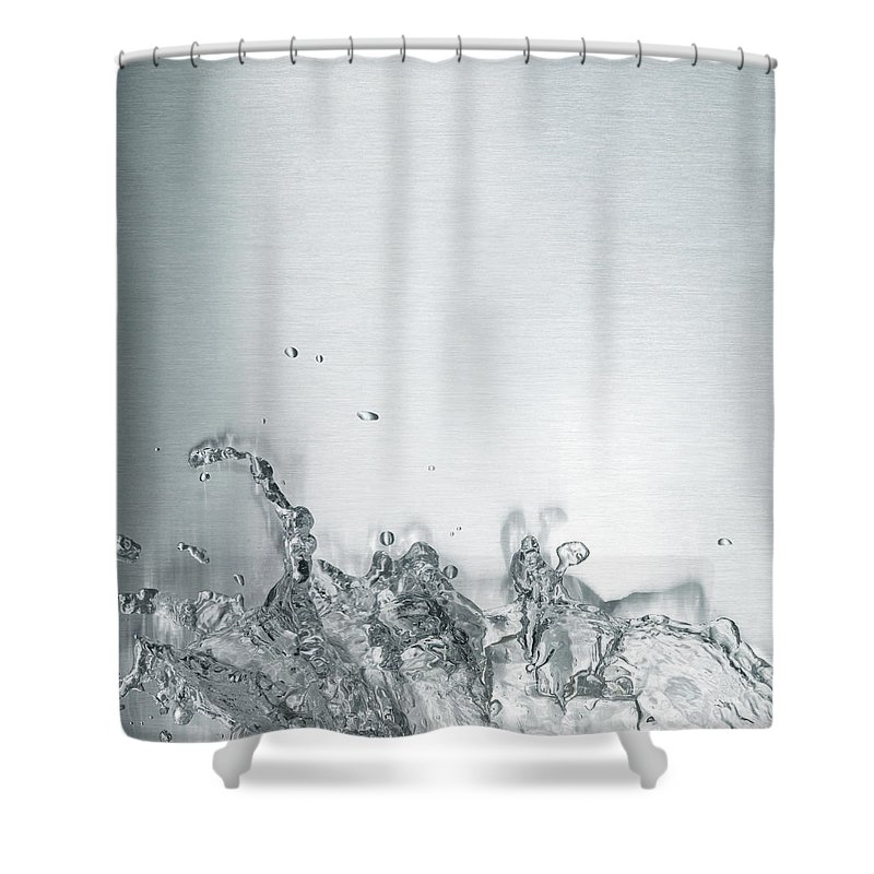 Underwater Shower Curtain featuring the photograph Water Splash by Plainview