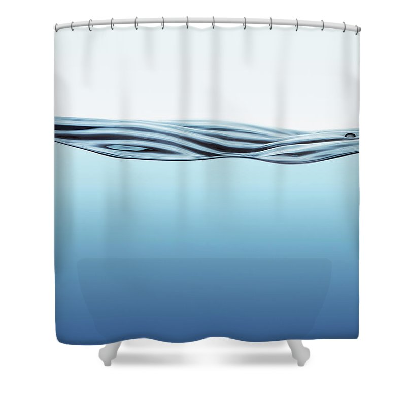 Spray Shower Curtain featuring the photograph Water Surface With Big Wave by Kedsanee