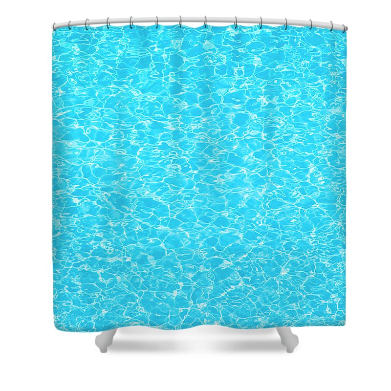 Cool Attitude Shower Curtain featuring the photograph Water Wave Pattern Of Swimming Pool by Anddraw