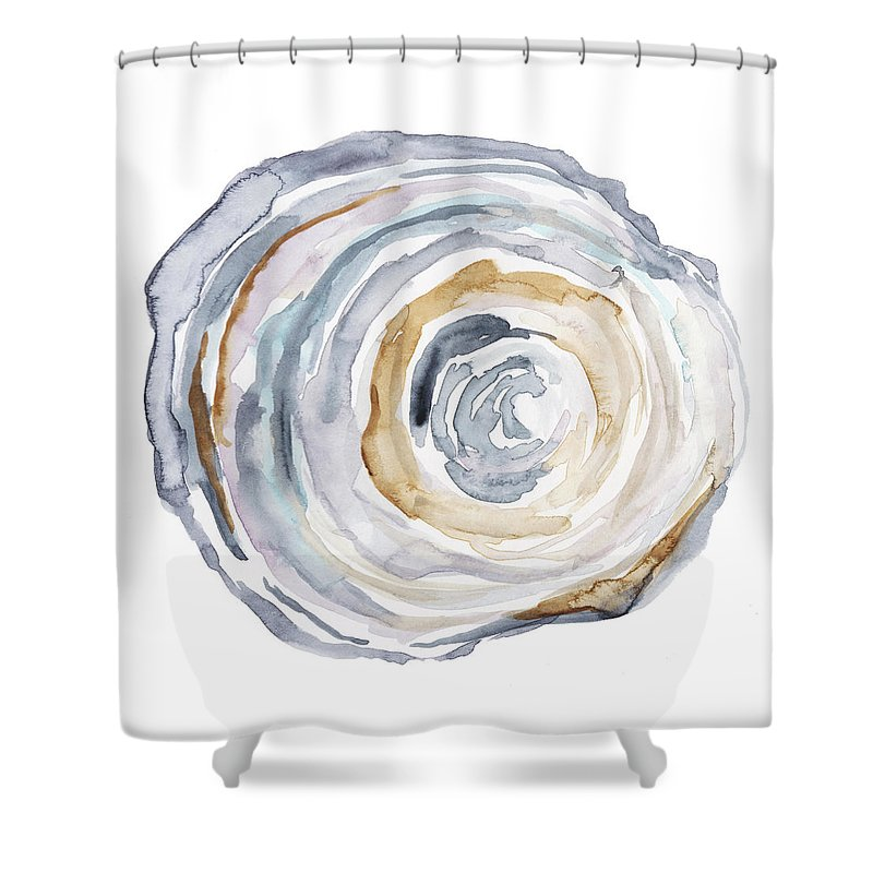 Abstract Shower Curtain featuring the painting Watercolor Tree Ring Iv by Ethan Harper