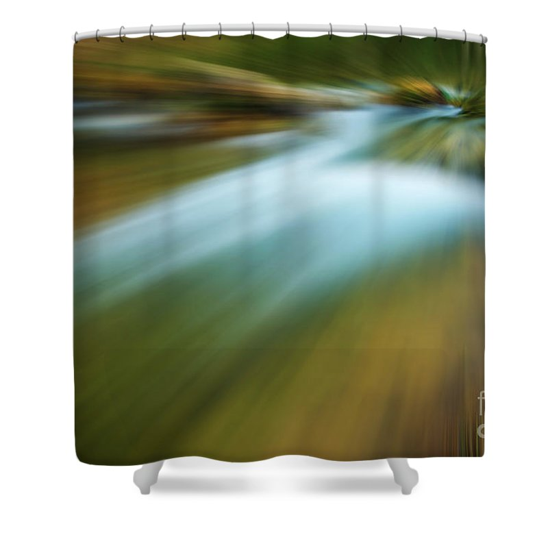 Photography Shower Curtain featuring the photograph Waterfall Abstract by Vicente Sargues