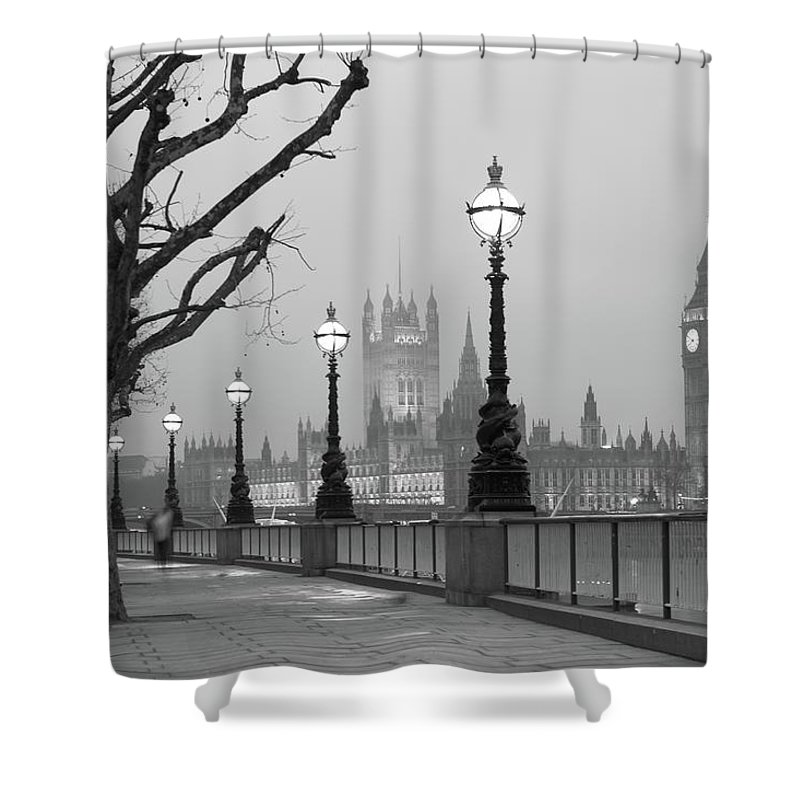 Scenics Shower Curtain featuring the photograph Westminster At Dawn, London by Gp232