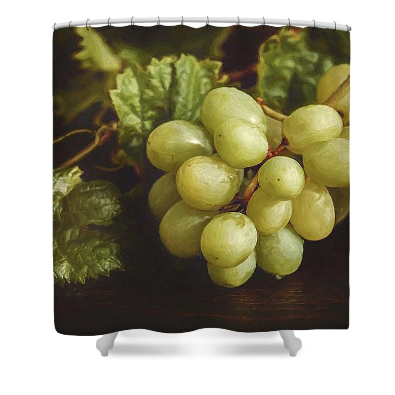 Abstract Shower Curtain featuring the photograph White Grapes by Robert Kinser