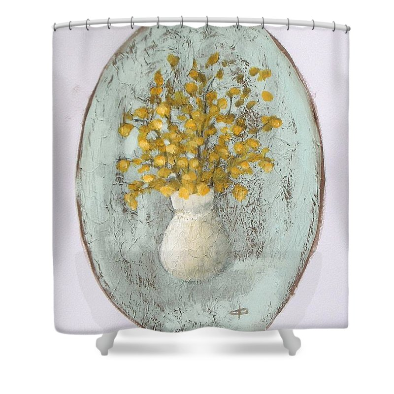 Wild Yellow Flowers In Vase Shower Curtain For Sale By Vesna Antic