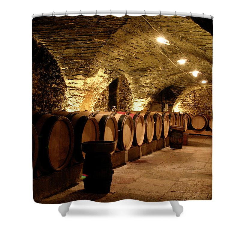 Arch Shower Curtain featuring the photograph Wine Cellar by Brasil2