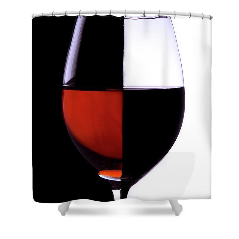 Alcohol Shower Curtain featuring the photograph Wineglass by Portishead1
