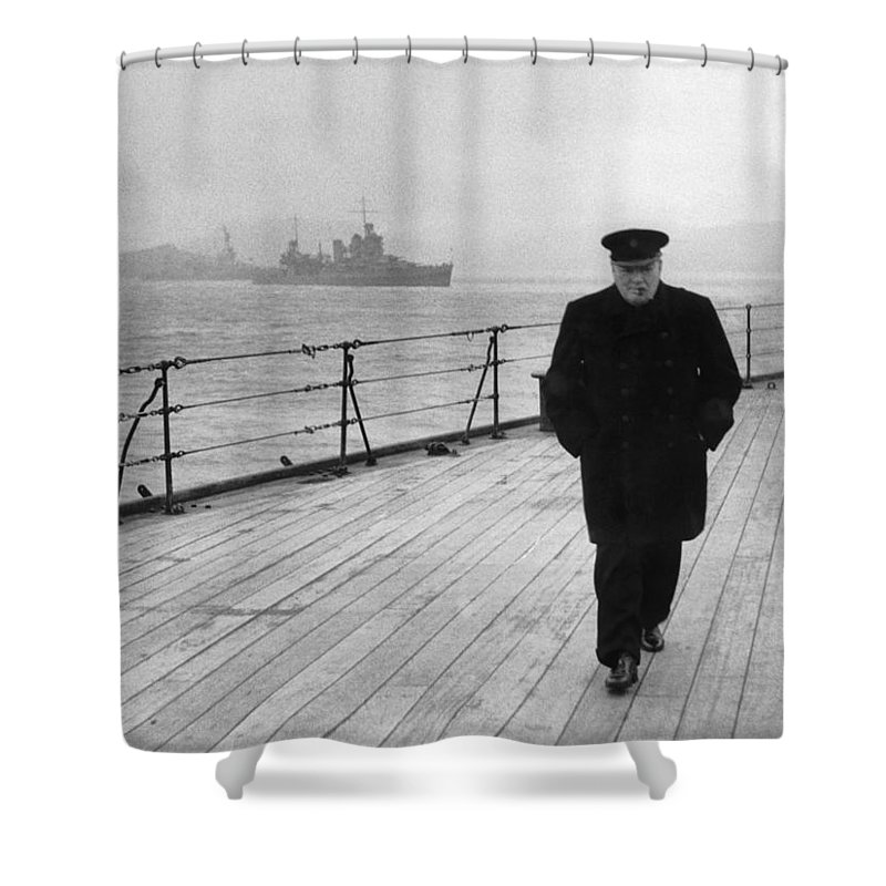 Winston Churchill Shower Curtains