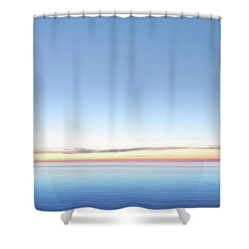 Lake Michigan Shower Curtain featuring the photograph Xxl Serene Twilight Lake by Sharply done