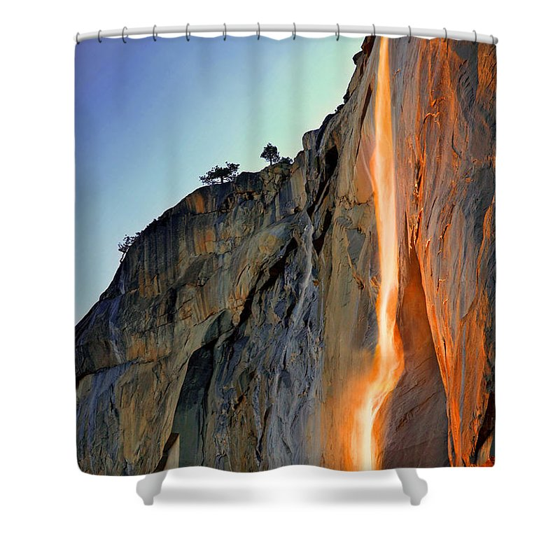 Tranquility Shower Curtain featuring the photograph Yosemite Firefall by Provided By Jp2pix.com