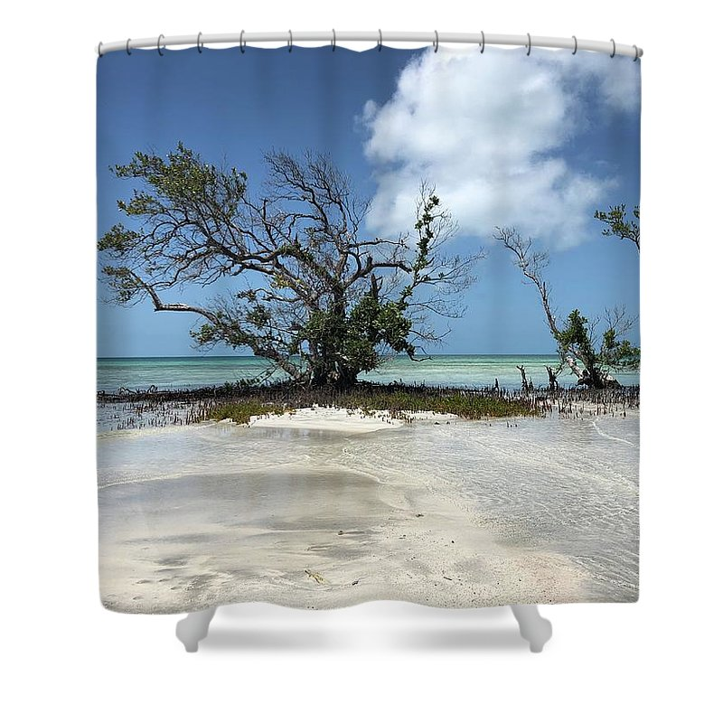 Key West Florida Waters Shower Curtain featuring the photograph Key West Waters by Ashley Turner