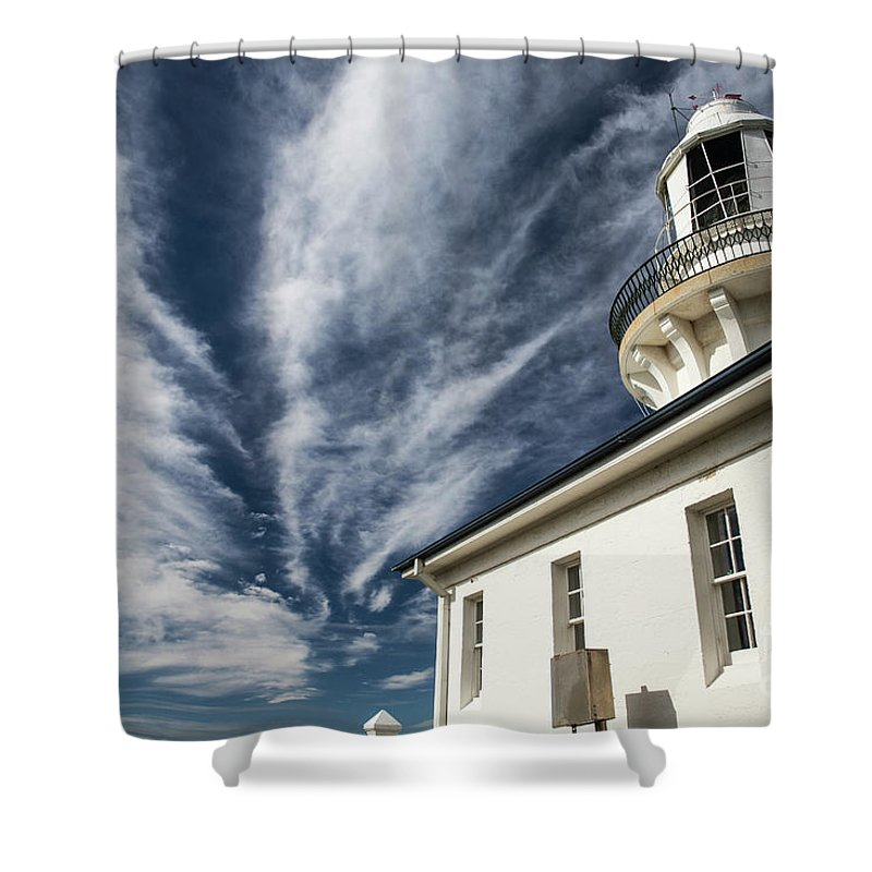 Smoky Cape Lighthouse Shower Curtain featuring the photograph Smoky Cape lighthouse by Sheila Smart Fine Art Photography