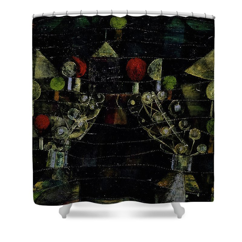 Paul Klee Shower Curtain featuring the painting Women's Pavilion by Paul Klee
