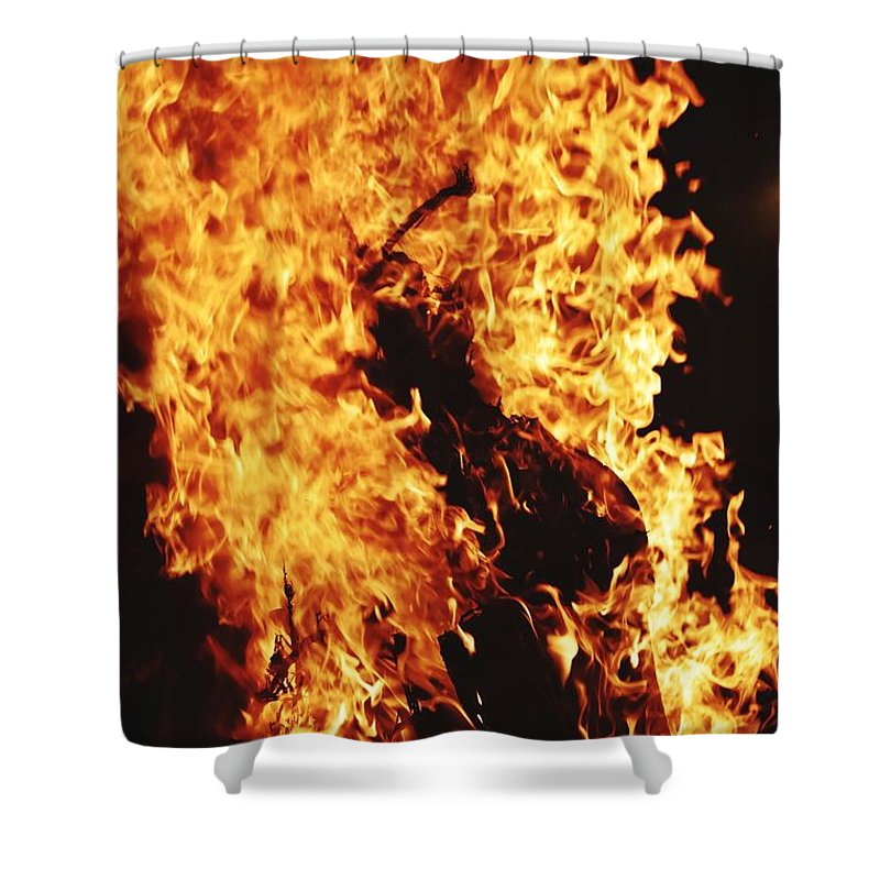 Blazing Shower Curtains