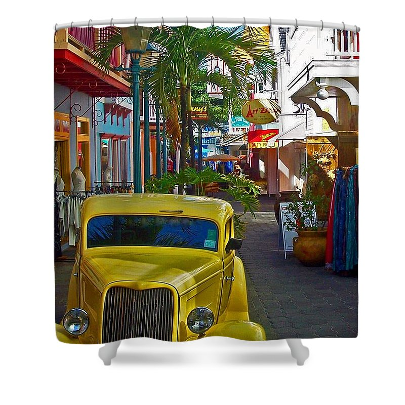 St. Martin Shower Curtain featuring the photograph Nice Ride by Debbi Granruth