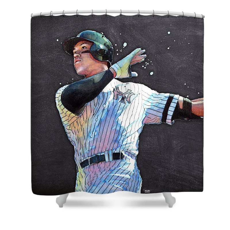 Aaron Judge Shower Curtains