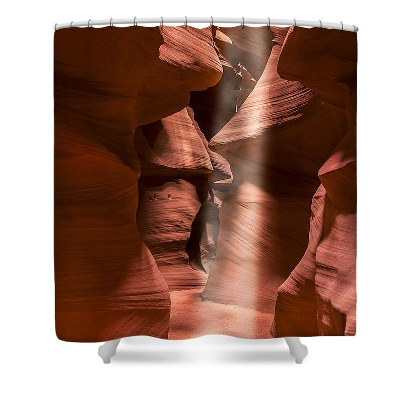 3scape Shower Curtain featuring the photograph Antelope Canyon by Adam Romanowicz
