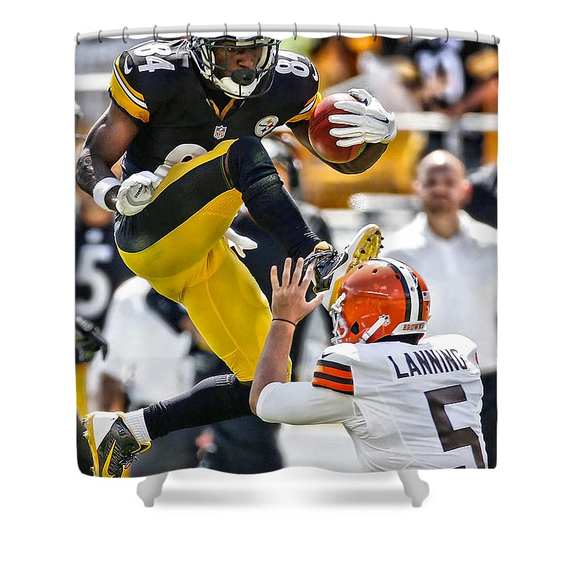 Football Antonio Brown Shower Curtains
