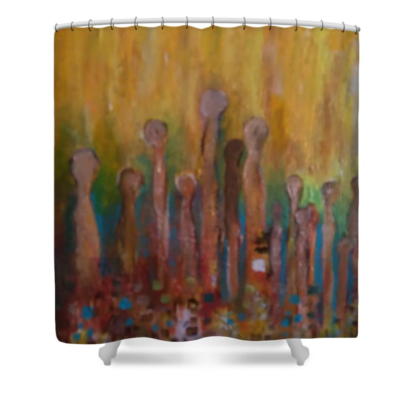 Shower Curtain featuring the painting Ascension by Carol P Kingsley
