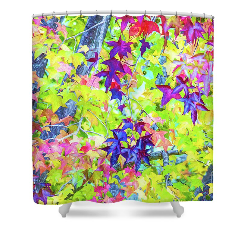 Autumn Leaves Shower Curtain featuring the photograph Autumn leaves by Sheila Smart Fine Art Photography