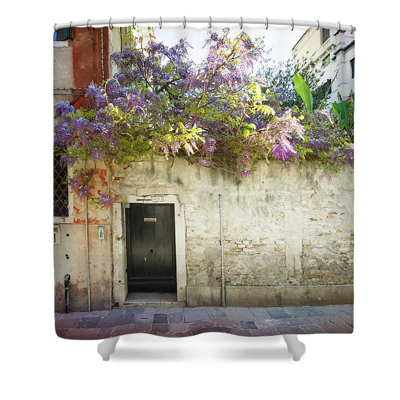 Fine Art Shower Curtain featuring the photograph B001889 - Wisteria In Venice by Marco Missiaja