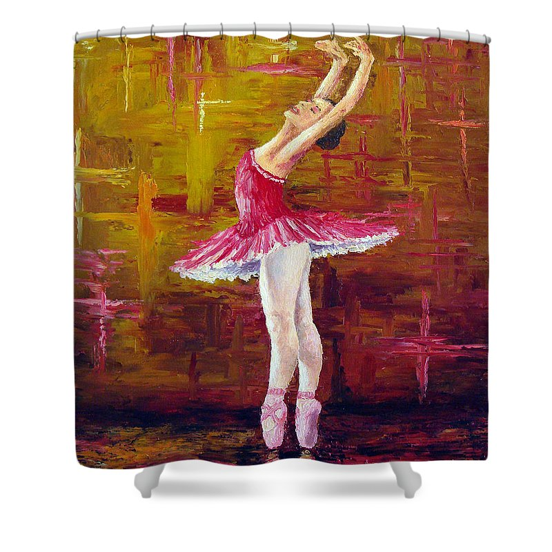 Ballet Shower Curtain featuring the painting Ballerina by David G Paul