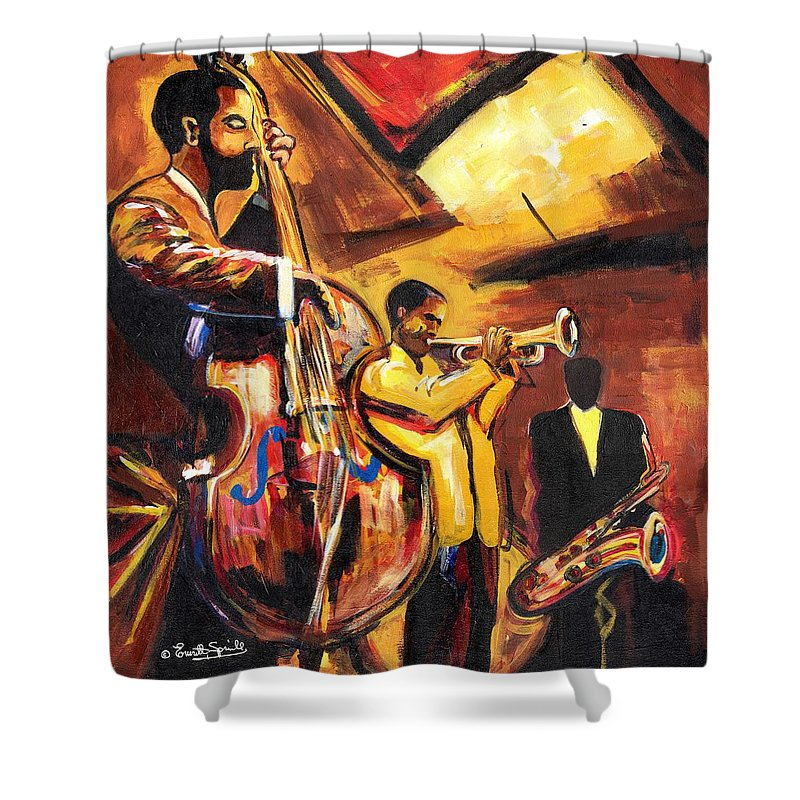 Everett Spruill Shower Curtain featuring the painting Birth Of Cool by Everett Spruill