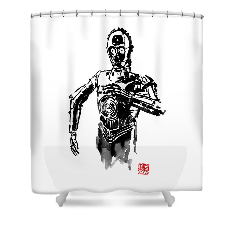 C3po Shower Curtains