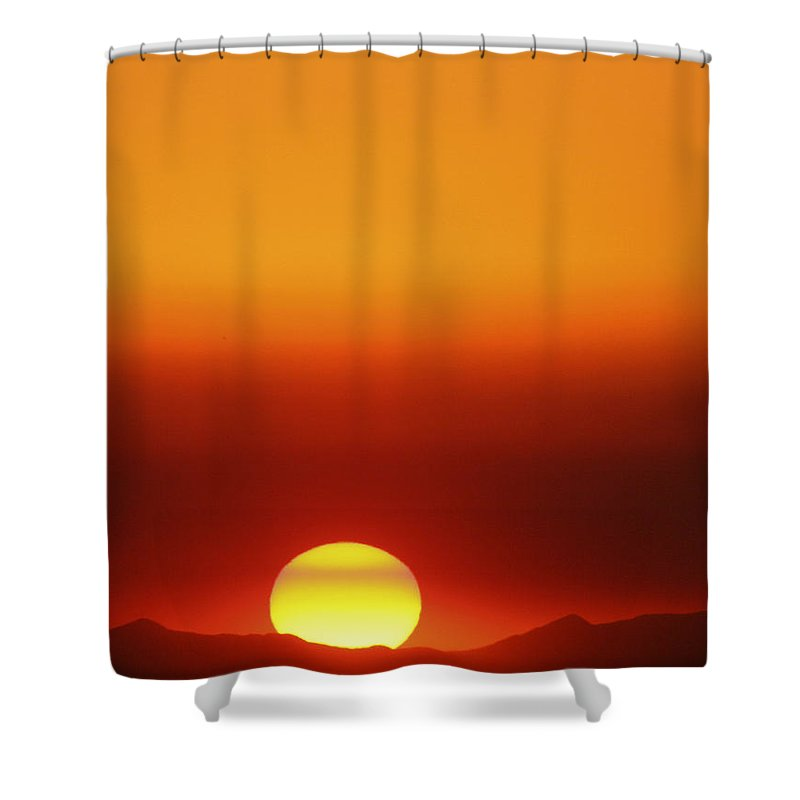Catalina Sunset Shower Curtain featuring the photograph Catalina Sun by Andre Aleksis