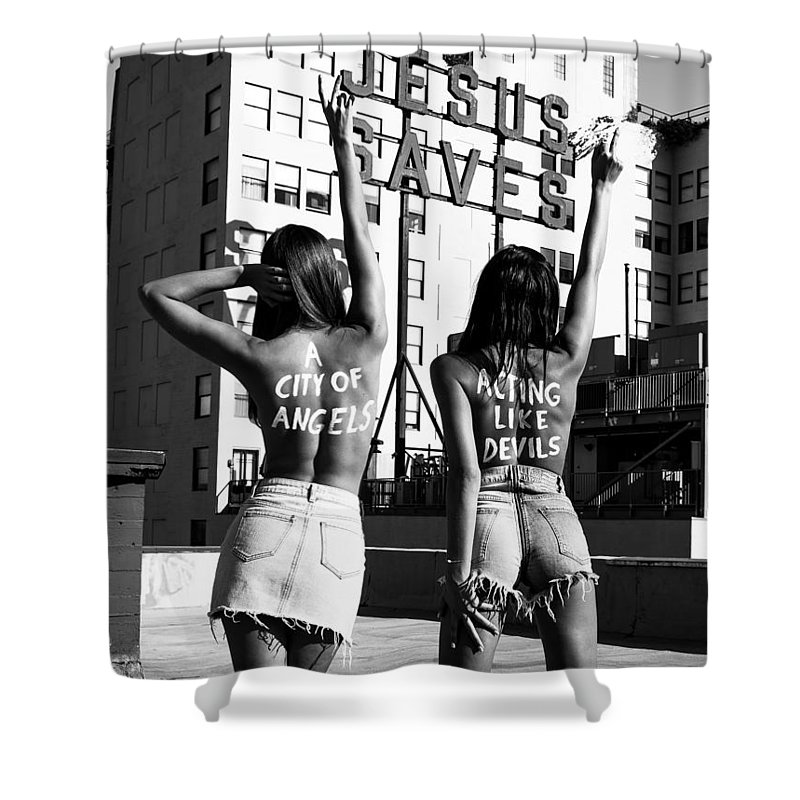 Shower Curtain featuring the photograph City of Angels by Brendan North