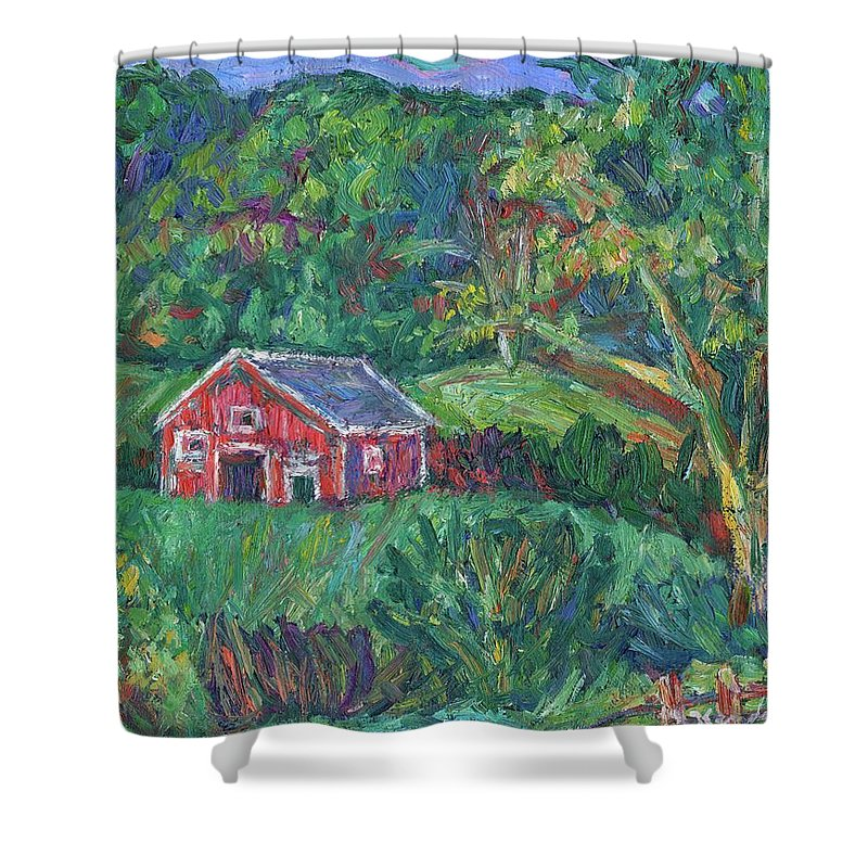 Rural Shower Curtain featuring the painting Clover Hollow in Giles County by Kendall Kessler