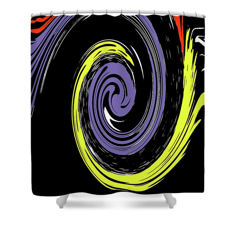 Abstract Shower Curtain featuring the photograph Colorful Swirl by Holly Morris