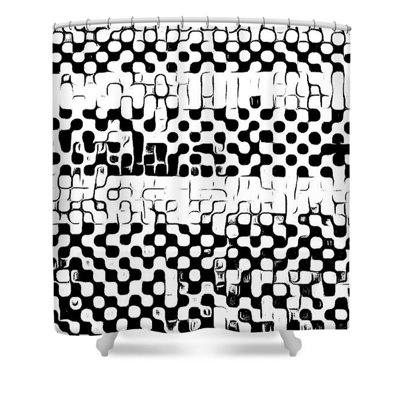 Art Shower Curtain featuring the digital art Details by Andrew Johnson