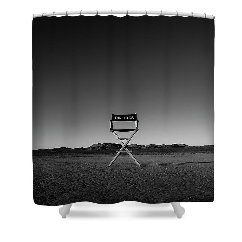 Shower Curtain featuring the photograph Director's Cut by Brendan North