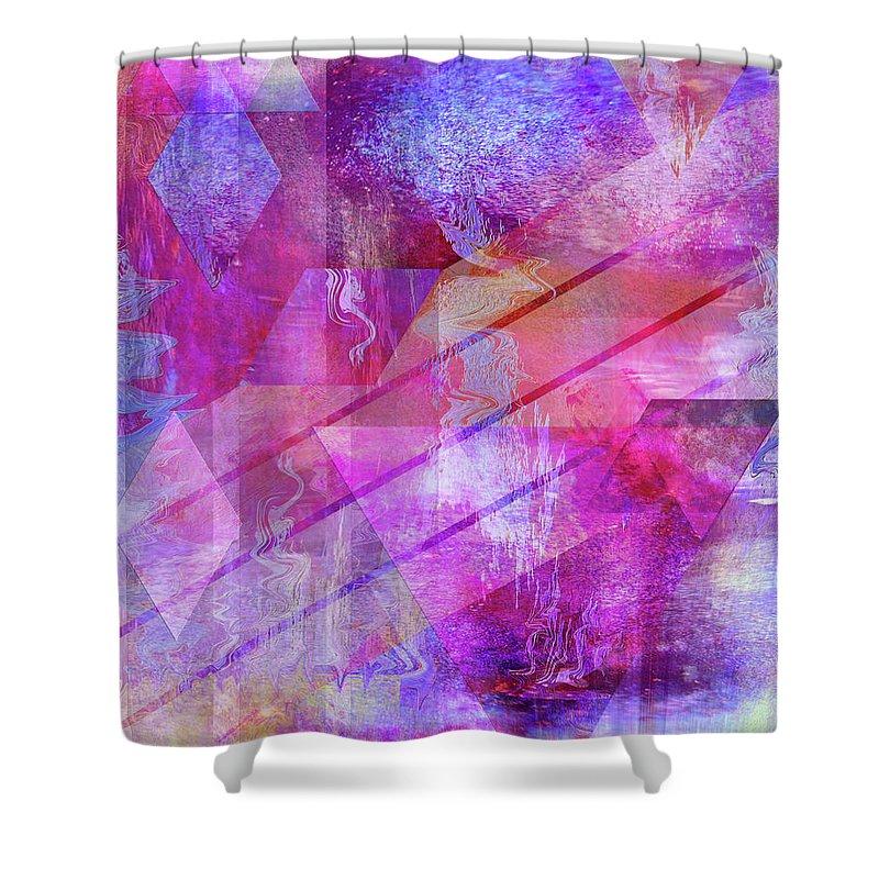 Dragon's Kiss Shower Curtain featuring the digital art Dragon's Kiss by John Robert Beck
