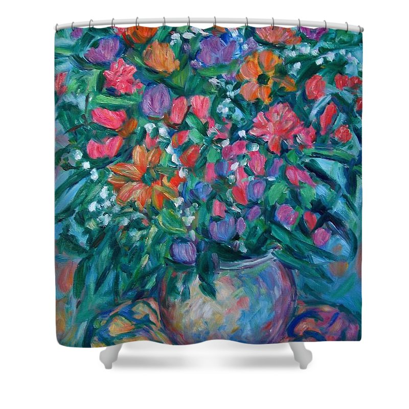 Floral Paintings Shower Curtain featuring the painting Dream Bouquet by Kendall Kessler